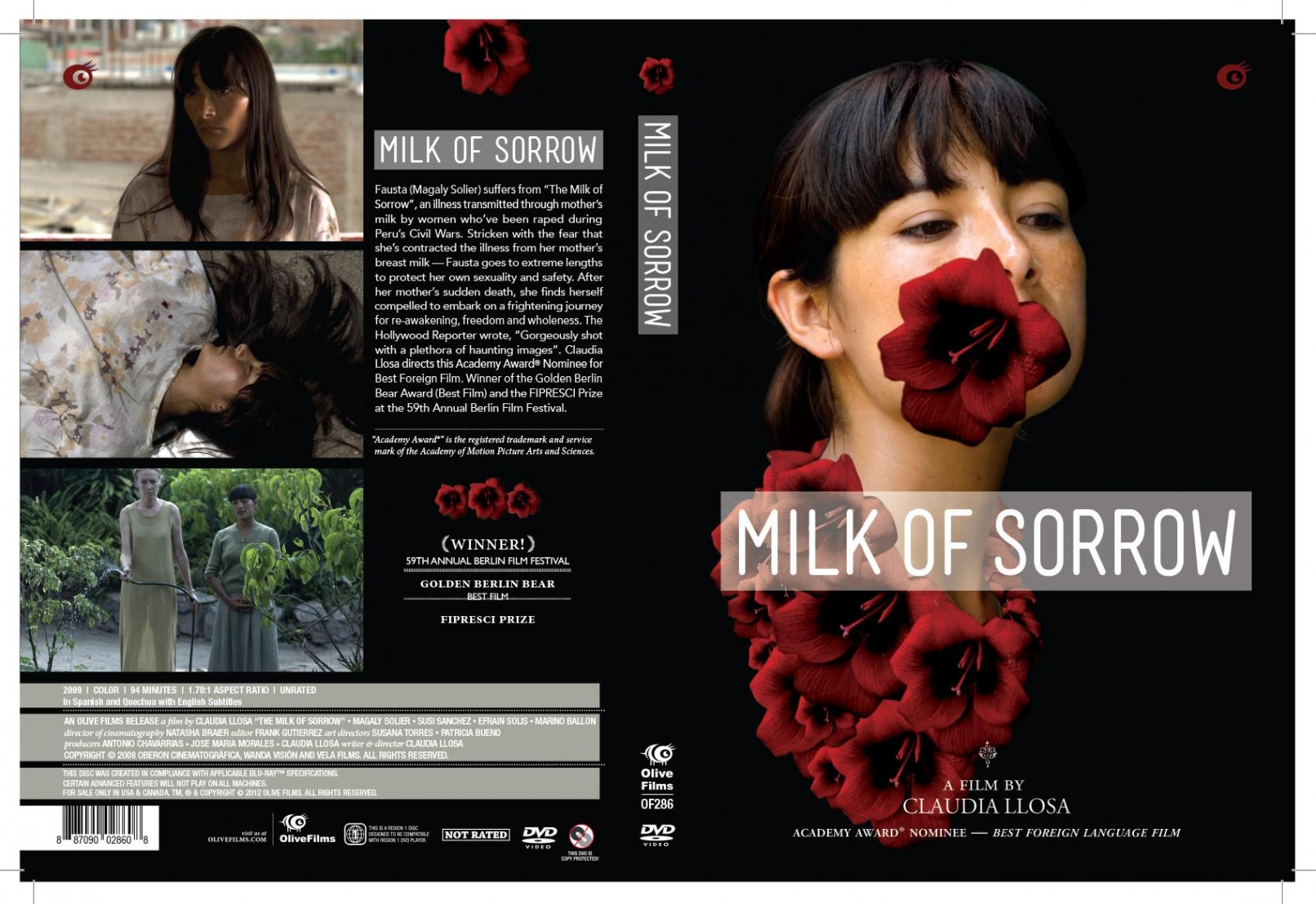 a film analysis of milk of sorrow by claudua llosa Director: claudia llosa starring: magaly solier, susi sánchez, efraín solís and others.
